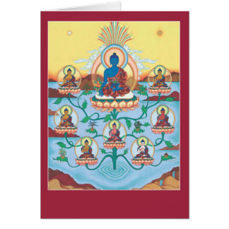 Médecine Buddhas de la CARTE 8 avec l'explication
