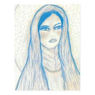 Medelevende Mary in Blauw Wenskaart