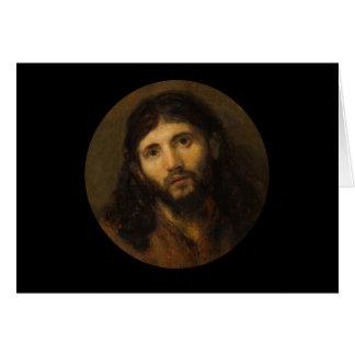 Medelevende Ogen Jesus Wenskaart