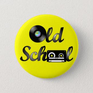 Médias de musique de vieille école ronds (jaune) badge rond 5 cm