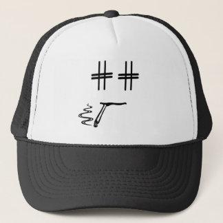 # médias sociaux drôles de visage de bande casquette