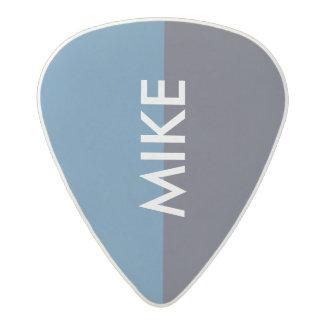 Médiator Acetal onglet de guitare bleu de tons du cool deux avec