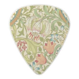 Médiator Acetal Pre-Raphaelite d'or de cru de lis de William