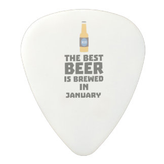 Médiator En Polycarbonate La meilleure bière est en janvier Zxe8k brassé