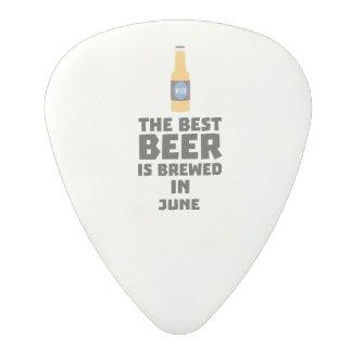 Médiator En Polycarbonate La meilleure bière est en juin Z1u77 brassé