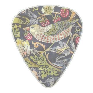 Médiator Perle Celluloid Art floral Nouveau de voleur de fraise de William