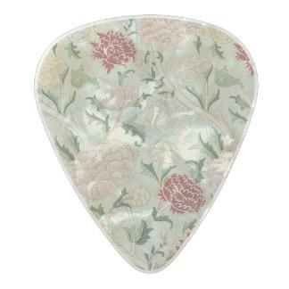 Médiator Perle Celluloid Cru floral de Pre-Raphaelite de William Morris