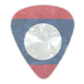 Médiator Perle Celluloid Drapeau des onglets de guitare des Laotiens