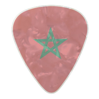 Médiator Perle Celluloid Drapeau des onglets de guitare du Maroc