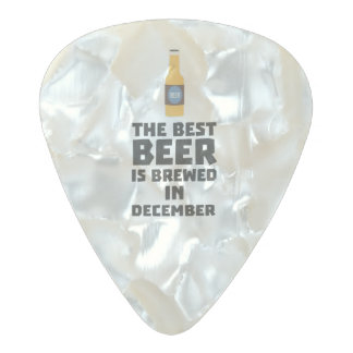 Médiator Perle Celluloid La meilleure bière est en décembre Zfq4u brassé