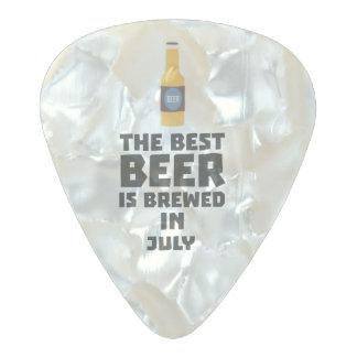 Médiator Perle Celluloid La meilleure bière est en juillet Z4kf3 brassé