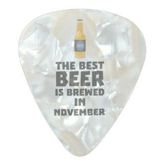 Médiator Perle Celluloid La meilleure bière est en novembre Zk446 brassé