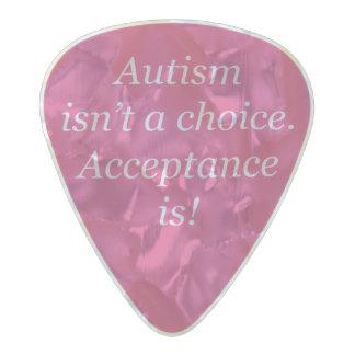 Médiator Perle Celluloid L'autisme n'est pas un bien choisi…