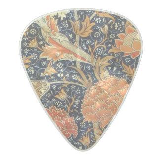 Médiator Perle Celluloid Motif floral de Nouveau d'art de William Morris