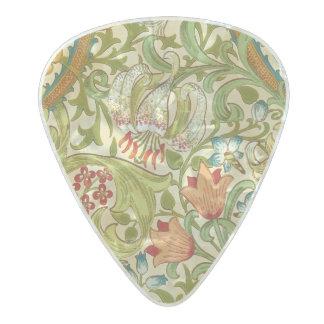 Médiator Perle Celluloid Pre-Raphaelite d'or de cru de lis de William