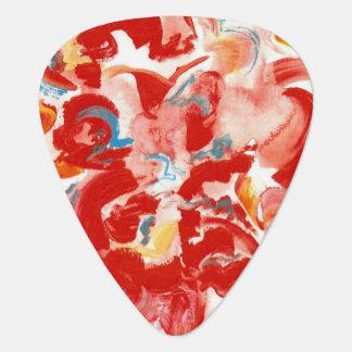 Médiators Art Traçage-Moderne rouge peint à la main