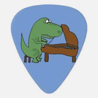 Médiators Dinosaure drôle de T-Rex jouant le piano