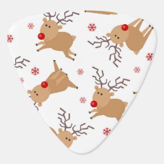 Médiators Flocon de neige rouge blanc de renne de motif