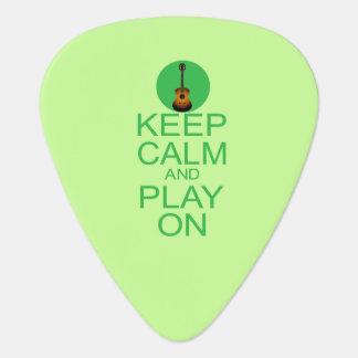 Médiators Gardez la parodie calme de guitare
