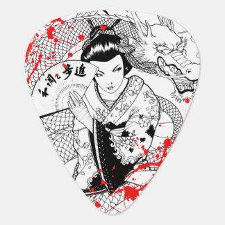 Médiators Geisha frais d'éclaboussure de sang avec le