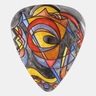 Médiators Géométrique peint à la main d'art de Voile-Résumé
