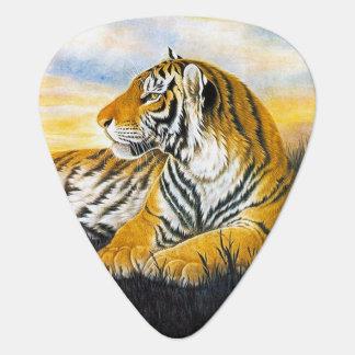 Médiators Grand chat de beau tigre reposant la peinture