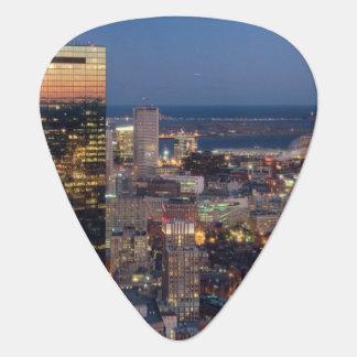 Médiators Le bâtiment de Boston avec la lumière traîne sur
