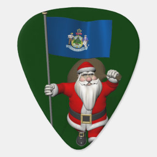 Médiators Le père noël avec le drapeau du Maine