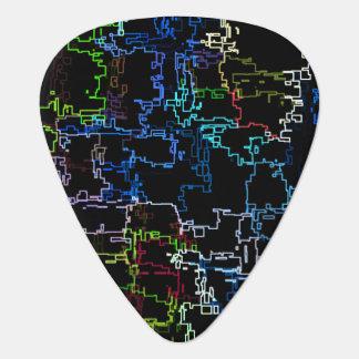 Médiators Ligne abstraite multicolore motif de Digitals