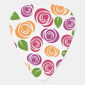 Médiators Motif floral de beau rose de remous