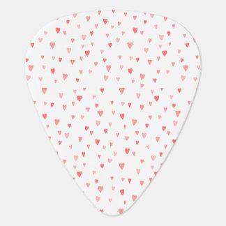 Médiators Motif rose Girly de coeurs de l'amour de Valentine