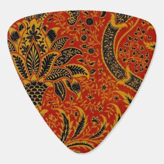 Médiators Motif rouge de papier peint de tapis antique de