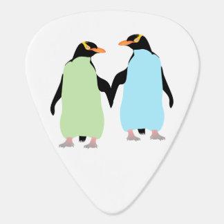 Médiators Pingouins de gay pride tenant des mains