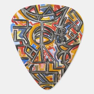 Médiators Symboles de caverne - art abstrait peint à la main