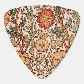 Médiators Tissu rose vintage de concepteur de motif floral