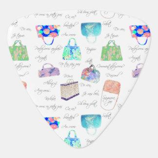 Médiators Typographie florale en pastel d'illustrations