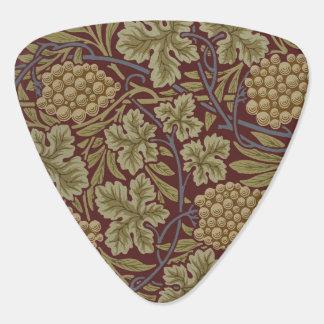 Médiators William Morris rouge et papier peint vert floral