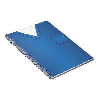 Médical bleu frotte le carnet uniforme