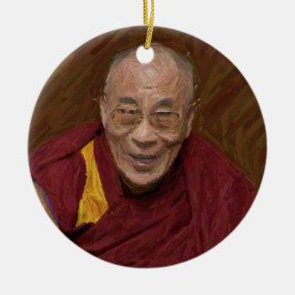 Méditation bouddhiste Yog de bouddhisme de Dalai Ornement Rond En Céramique