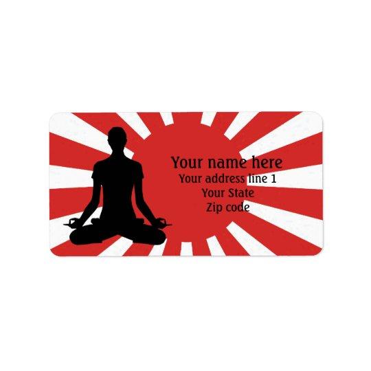 Méditation personnalisée du yoga 4 de Soleil Étiquette D'adresse