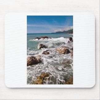 Meditative force de la mer - île Sicile Tapis De Souris
