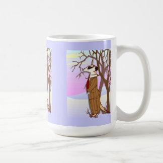 Meerkat dans la neige mug