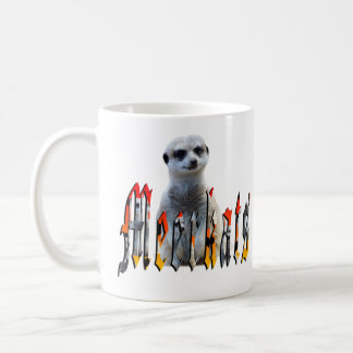 Meerkat et logo de Meerkat, tasse de café blanc