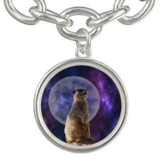 Meerkat sur la montre de nuit, bracelet de charme,