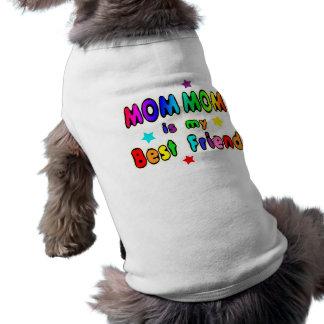 Meilleur ami de maman de maman t-shirts pour chien