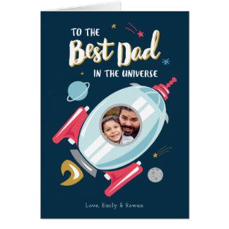 Carte Meilleur dans la carte de fête des pères d'univers