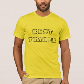 Meilleur motif noir de commerçant t-shirt