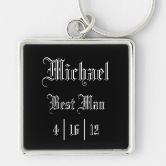 Meilleur porte - clé personnalisé d'homme porte-clé carré argenté