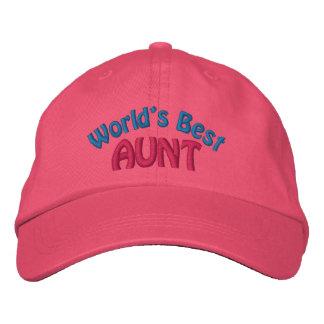 Meilleure tante Embroidered Hat du monde Chapeau Brodé