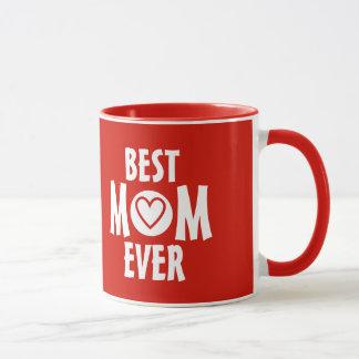 Meilleure tasse rouge de maman jamais avec le